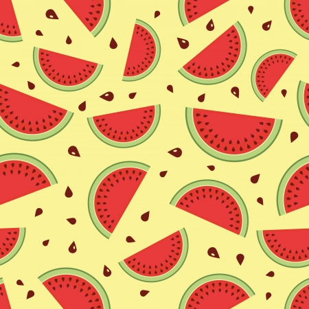Watermelon seamless background  Vector illustration  Vector