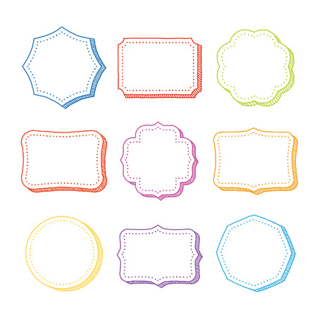 Vector set of hand drawn frames Vector