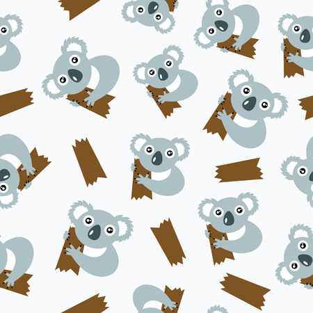 Seamless pattern with koalas  Vector illustration  Vector