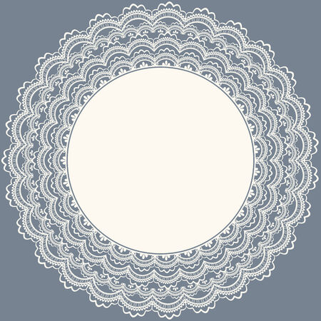 Lace frame  Wedding invitation Vector illustration Vector
