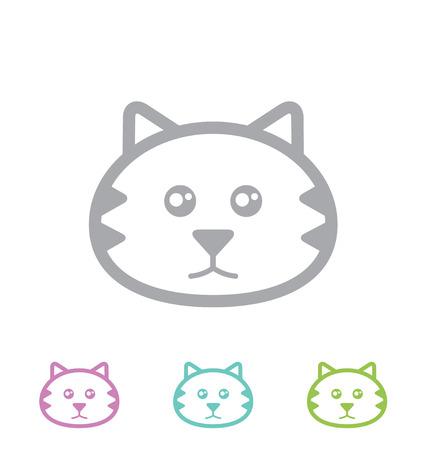 cat head: Cat head  Vector icon  Illustration