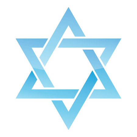 magen david: Star of David  Vector illustration