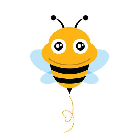かわいい蜂ベクトル イラスト  イラスト・ベクター素材