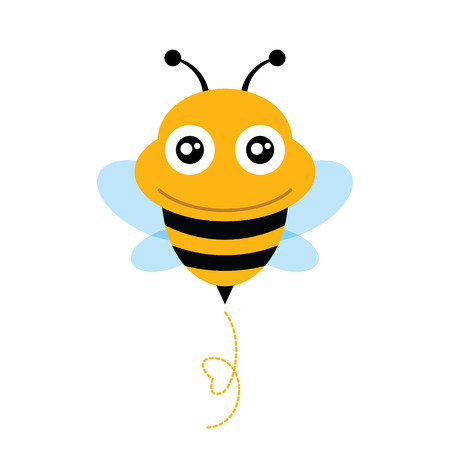 sting: Cute Bee  Vector illustration