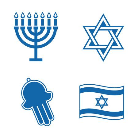 menora: Jewish icons  Illustration