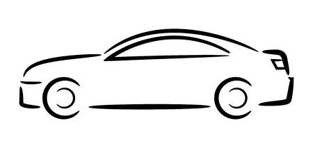 Auto Umriss Vektor-Illustration Standard-Bild - 27904941