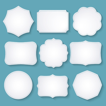 set of paper decorative frames Ilustrace