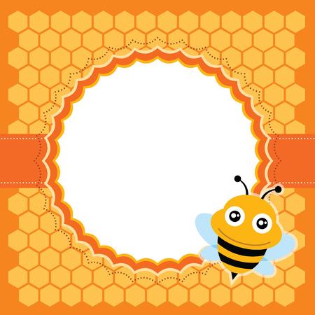 Cute bee  Vector illustration  Vector