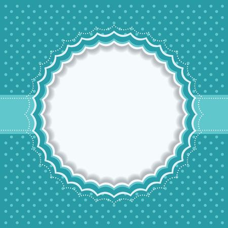Polka dot frame Vector