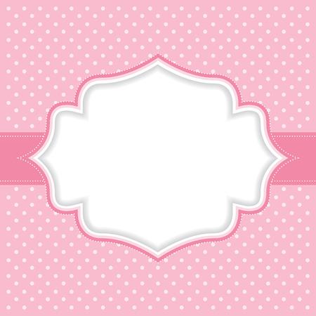 水玉フレーム  イラスト・ベクター素材
