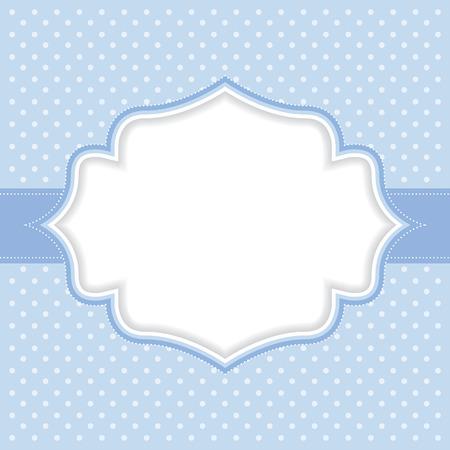 simple background: Polka dot frame