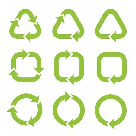 green arrows: Cycle arrows