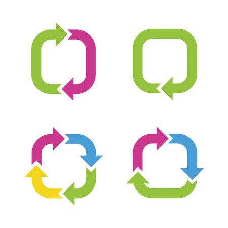 Colorful cycle arrows Banco de Imagens - 28465213
