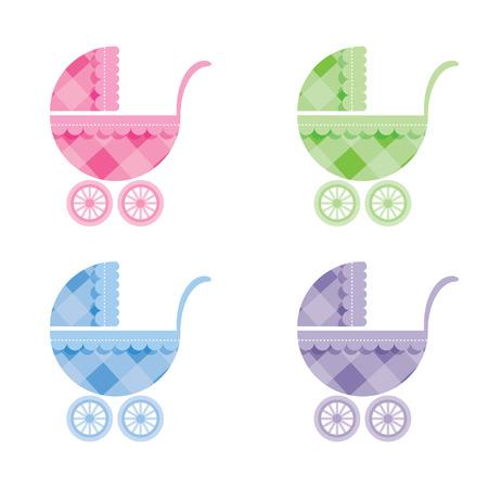 Cochecitos de bebé Ilustración de vector
