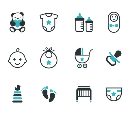 new beginning: Baby icons  Vector set