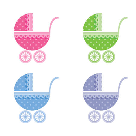 buggy: Baby buggy  Vector illustration