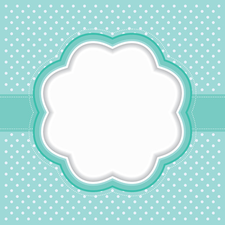 simple flower: Polka dot frame