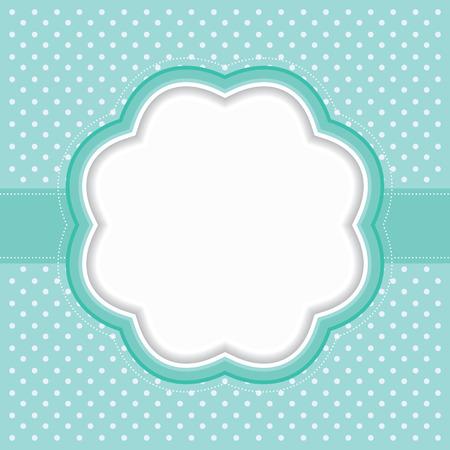 decorative frame: Polka dot frame