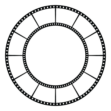 Film tape  Vector illustration Banco de Imagens - 29086336