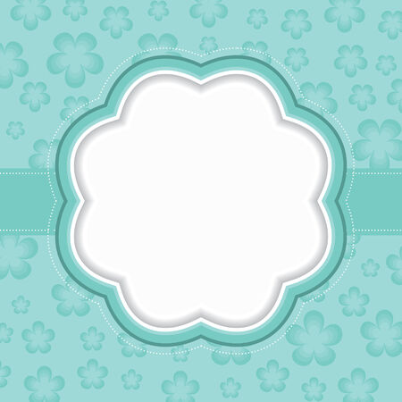 Blue floral frame  Vector illustration