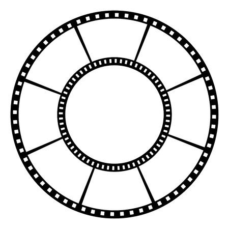 photographic film: Film tape  Vector illustration