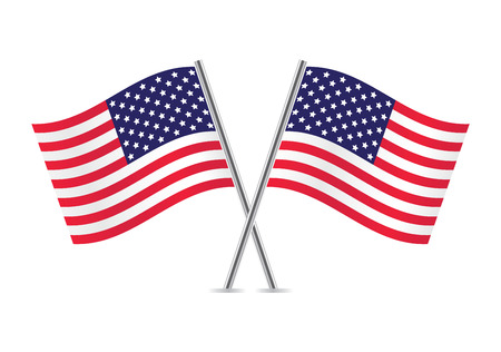 American Flags  Flags of USA illustration  Illustration