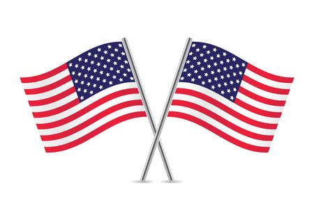Amerikanische Flaggen Flaggen von USA Illustration Vektorgrafik