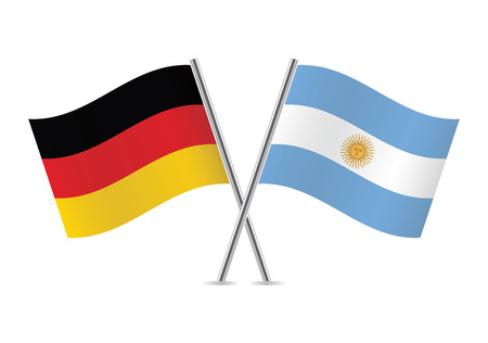 national colors: Germany and Argentina flags  illustration
