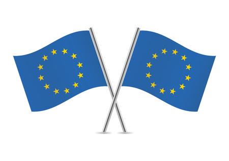eu flag: European union flags illustration