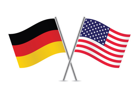 American and German flags illustration