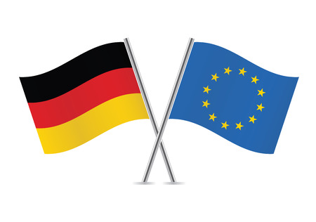 European Union and Germany flags illustration  Illustration