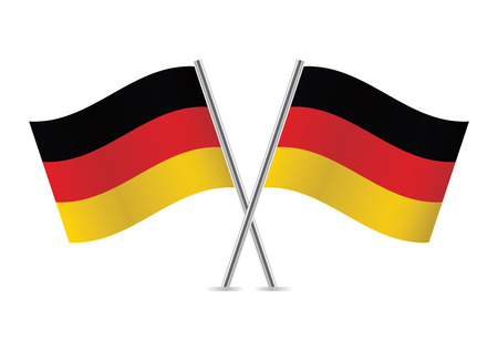 Germany flags illustration Stok Fotoğraf - 30022967