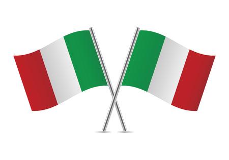 Italiaanse vlaggen illustratie Stock Illustratie