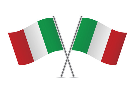 Italian flags illustration  Illustration