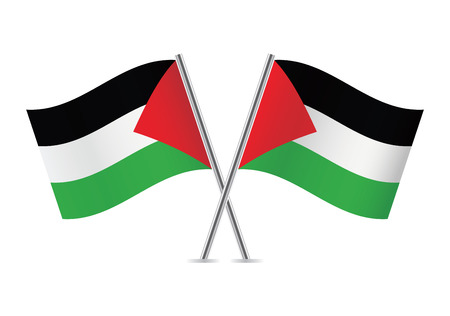 mideast: Palestinian flags illustration