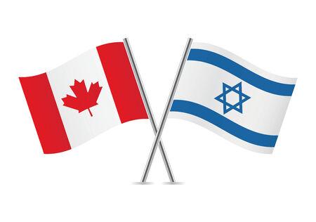 カナダ、イスラエル フラグ イラスト
