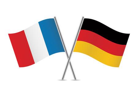 francia: Banderas alemanas y francesas ilustración Vectores