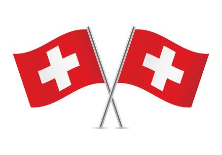 Switzerland flags illustration Banco de Imagens - 30500738
