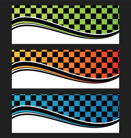 Set of wave background banner or header illustration Reklamní fotografie - 30617039