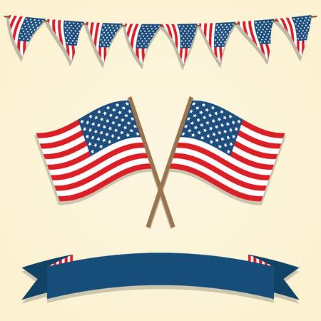 American decorations illustration  Vector