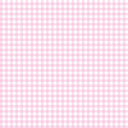 Pink seamless gingham pattern. Vector illustration.