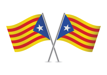 Catalonia flags.Vector illustration. Иллюстрация