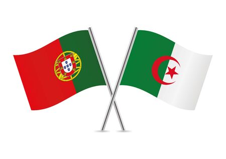 Portugal and Algeria flags.