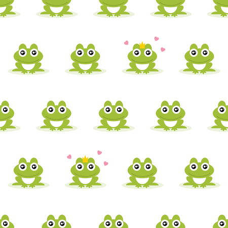 Frogs seamless background. Vector illustration. Ilustração