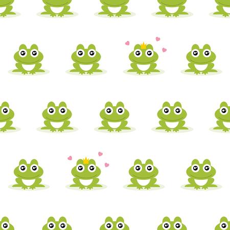 Frogs seamless background. Vector illustration. Illustration