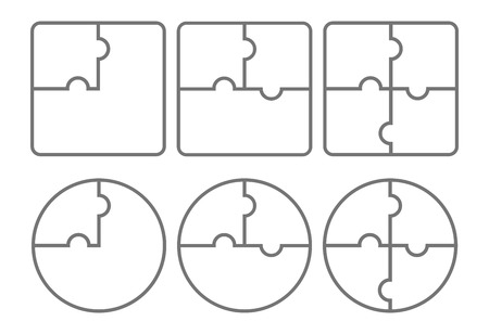 Puzzle. Vektor-Illustration. Vektorgrafik