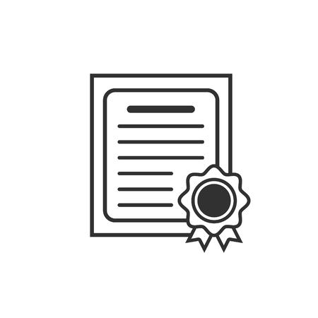 Zertifikatssymbol. Vektor-Illustration.