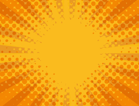 Abstract orange, yellow striped,  halftone pattern background with copy space for text.