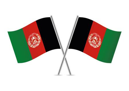 Afganistan flags. Vector illustration. Ilustrace