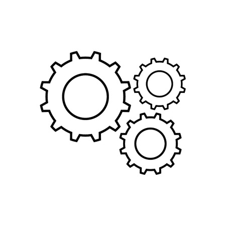 Gear outline icon. Isolated on white background.
